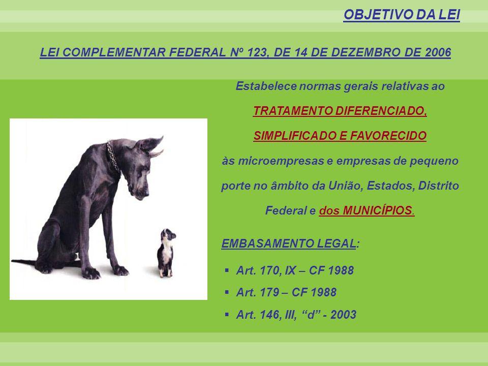 PRINCÍPIOS BÁSICOS DA LEI GERAL DAS MICRO E PEQUENAS EMPRESAS 1.