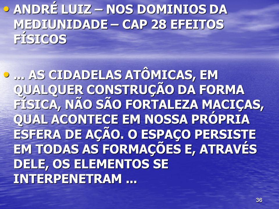 36 ANDRÉ LUIZ – NOS DOMINIOS DA MEDIUNIDADE – CAP 28 EFEITOS FÍSICOS ANDRÉ LUIZ – NOS DOMINIOS DA MEDIUNIDADE – CAP 28 EFEITOS FÍSICOS... AS CIDADELAS