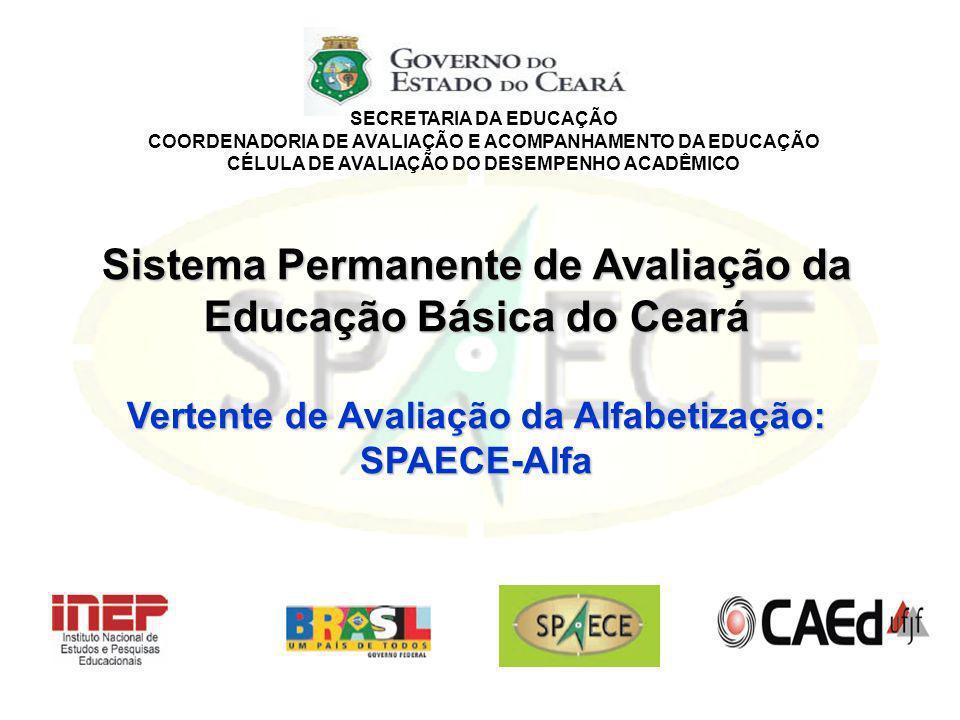SECRETARIA DA EDUCAÇÃO COORDENADORIA DE AVALIAÇÃO E ACOMPANHAMENTO DA EDUCAÇÃO CÉLULA DE AVALIAÇÃO DO DESEMPENHO ACADÊMICO Sistema Permanente de Avali