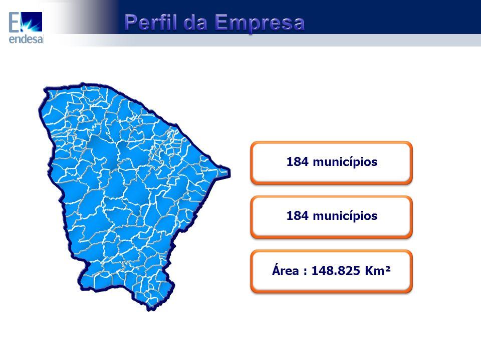 184 municípios Área : 148.825 Km²