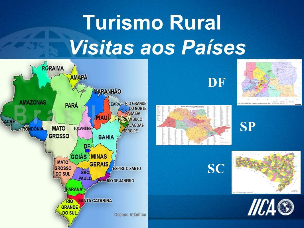 Turismo Rural Visitas aos Países DF SP SC