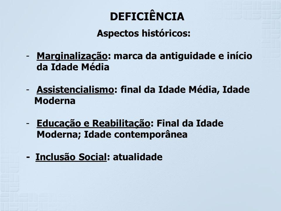 Inclusão/ Exclusão social Segundo Martins (1997): não existe exclusão em si – o que existem são inclusões precárias e instáveis, marginais.