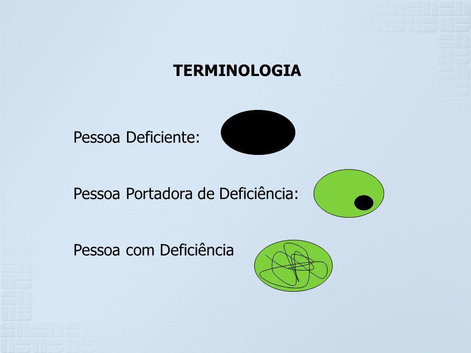 - As deficiências representam um desvio de determinados padrões populacionais.