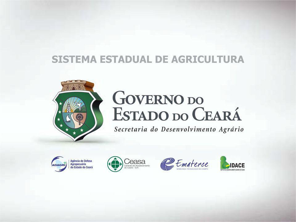 SECRETARIA DO DESENVOLVIMENTO AGRÁRIO Missão Promover o desenvolvimento rural sustentável do estado do Ceará, com ênfase nos agricultores e agricultoras familiares, com participação, inclusão e justiça social.