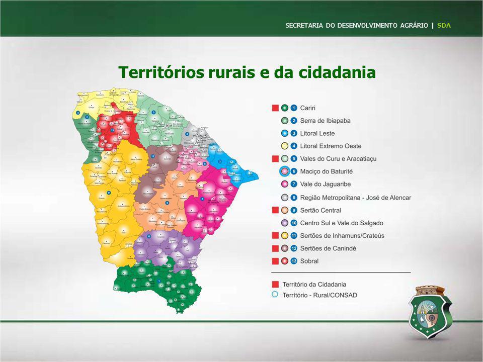 Territórios rurais e da cidadania SECRETARIA DO DESENVOLVIMENTO AGRÁRIO   SDA
