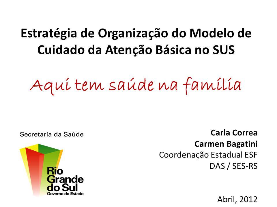 Rio Grande do Sul População: 10.693.929 hab Área Territorial: 282.674 Km² Nº de Municípios: 496 Nº de Regionais de Saúde: 19 Nº de Macro-regiões: 07 45% dos municípios < 5.000 habitantes.