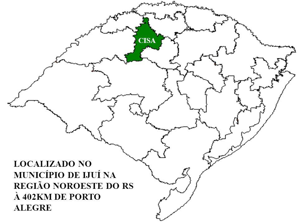 LOCALIZADO NO MUNICÍPIO DE IJUÍ NA REGIÃO NOROESTE DO RS À 402KM DE PORTO ALEGRE CISA