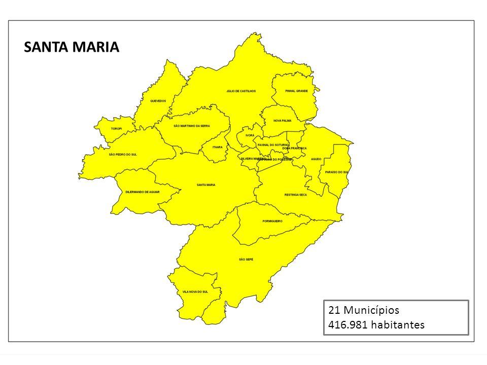 SANTA MARIA 21 Municípios 416.981 habitantes