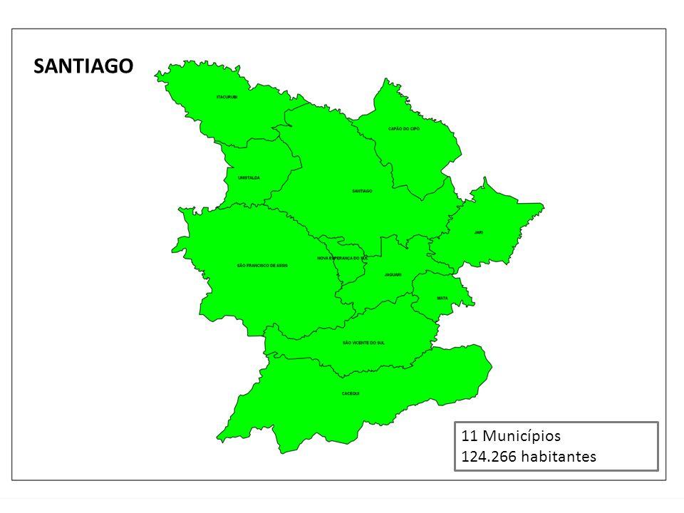 SANTIAGO 11 Municípios 124.266 habitantes