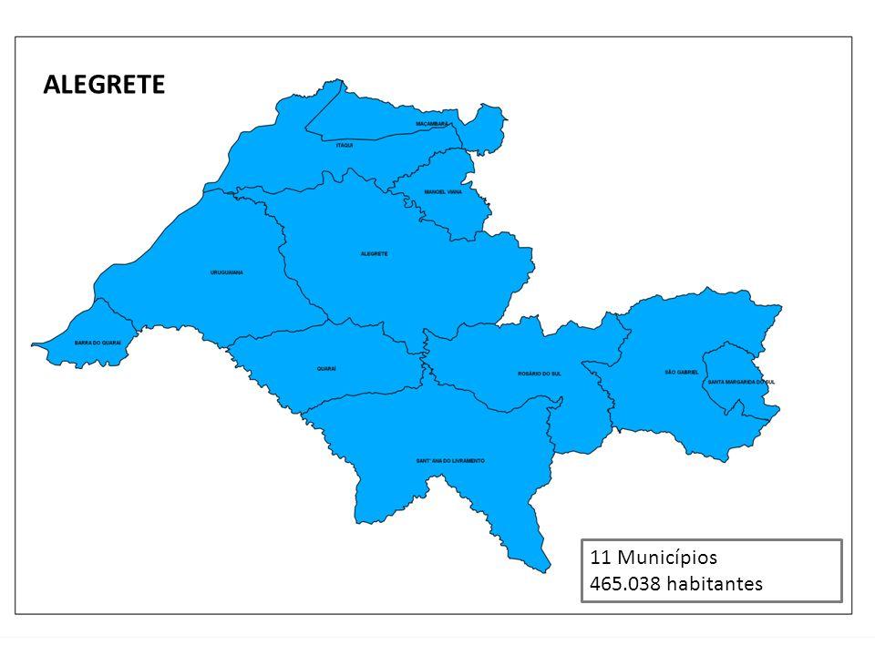 ALEGRETE 11 Municípios 465.038 habitantes