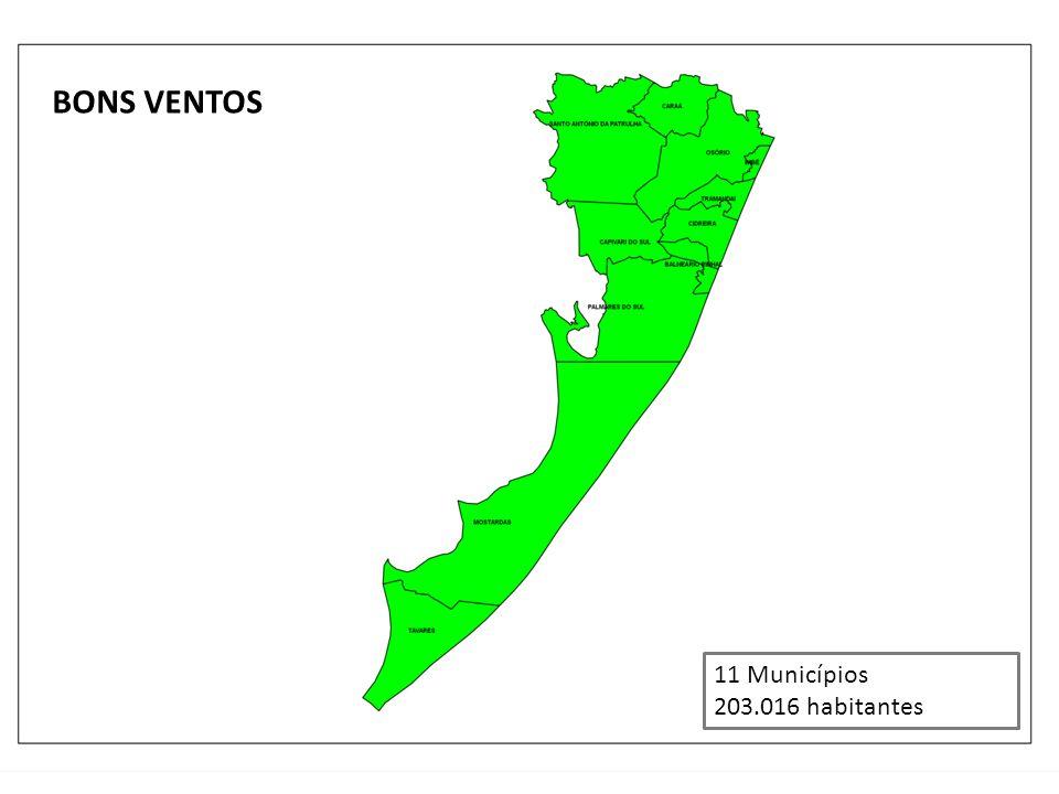 BONS VENTOS 11 Municípios 203.016 habitantes