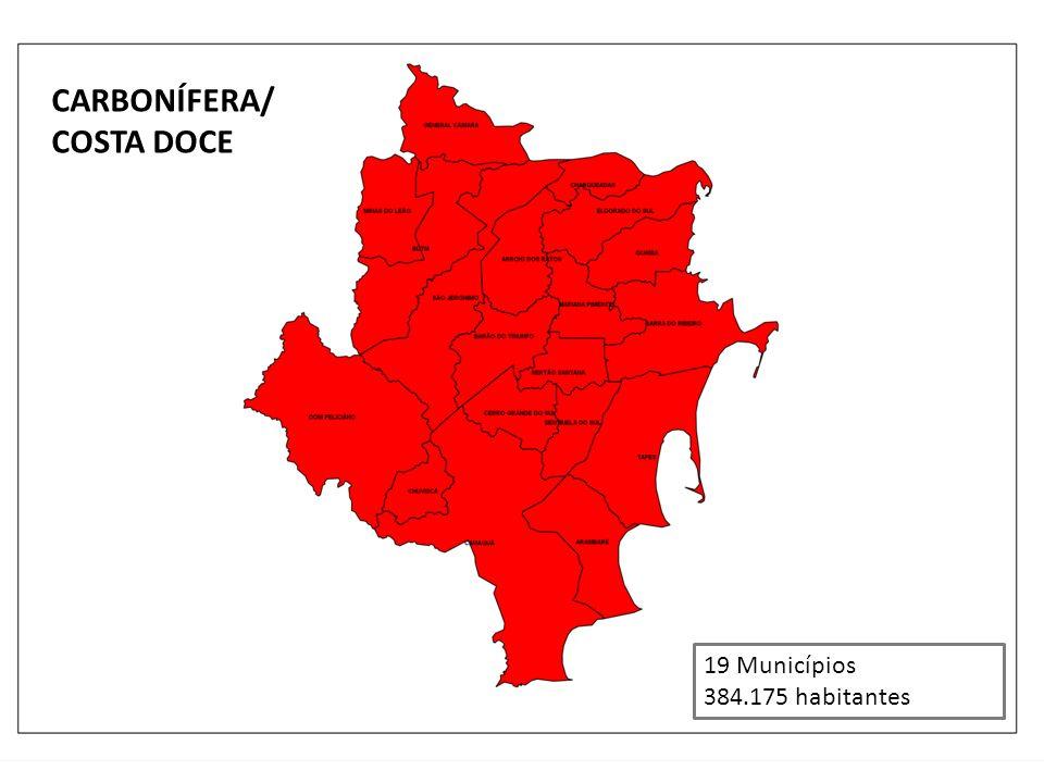 CARBONÍFERA/ COSTA DOCE 19 Municípios 384.175 habitantes