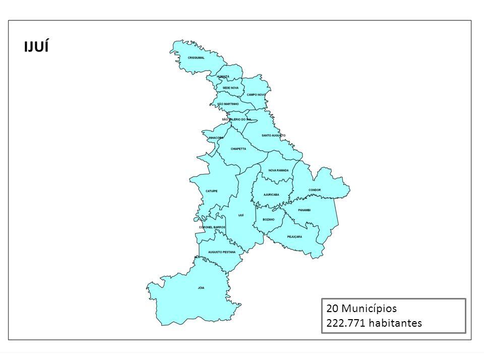 IJUÍ 20 Municípios 222.771 habitantes