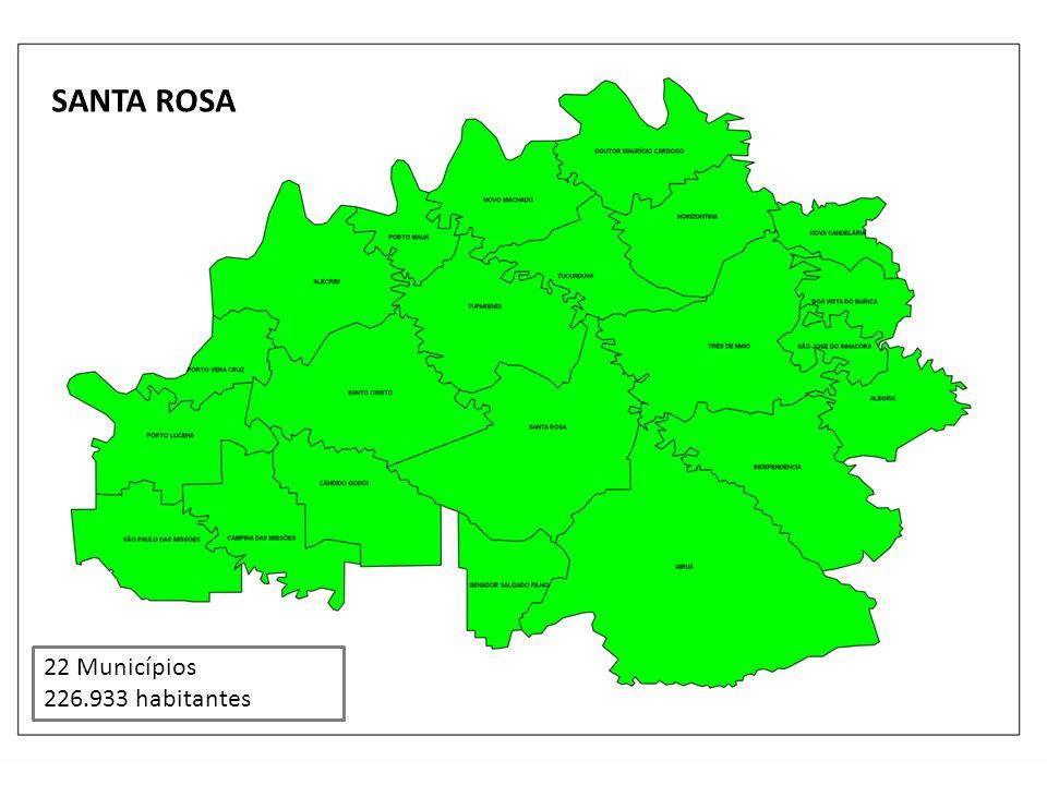 SANTA ROSA 22 Municípios 226.933 habitantes