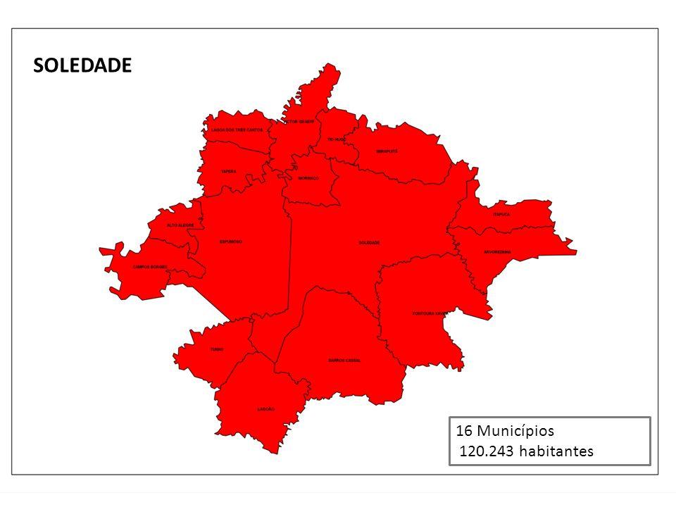 SOLEDADE 16 Municípios 120.243 habitantes