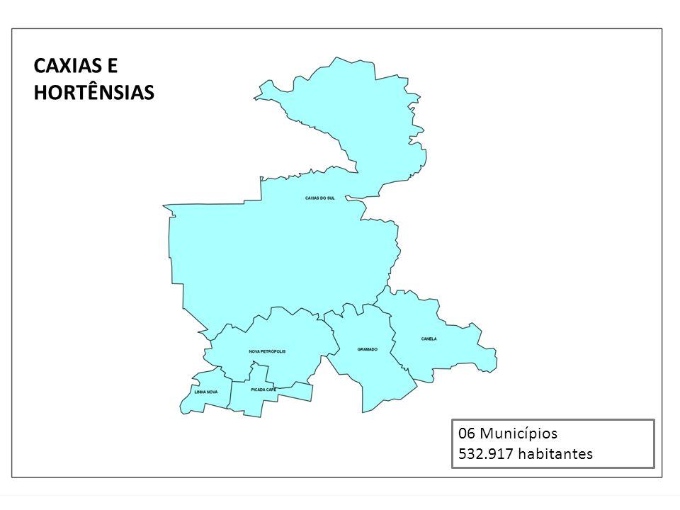 CAXIAS E HORTÊNSIAS 06 Municípios 532.917 habitantes