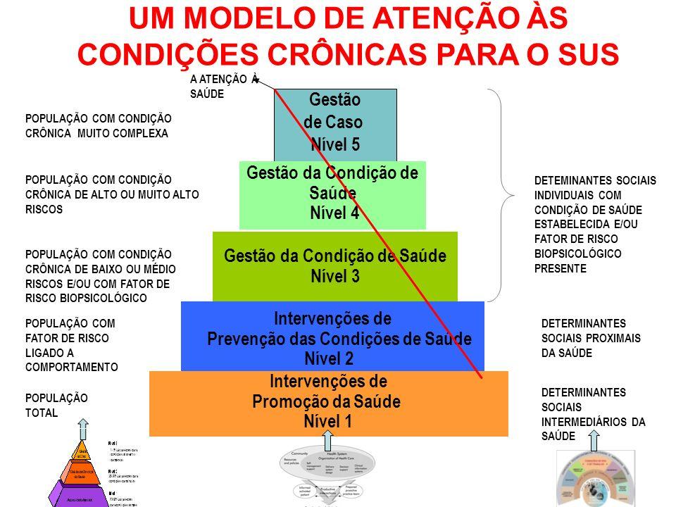 UM MODELO DE ATENÇÃO ÀS CONDIÇÕES CRÔNICAS PARA O SUS DETERMINANTES SOCIAIS INTERMEDIÁRIOS DA SAÚDE POPULAÇÃO TOTAL POPULAÇÃO COM FATOR DE RISCO LIGAD