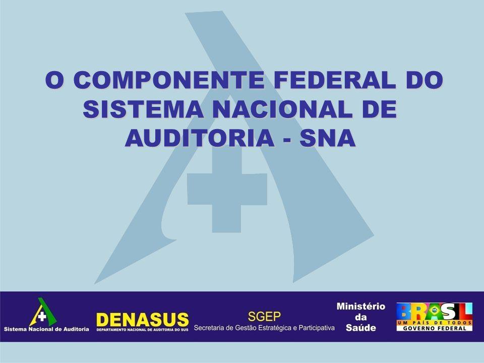 . O COMPONENTE FEDERAL DO SISTEMA NACIONAL DE AUDITORIA - SNA O COMPONENTE FEDERAL DO SISTEMA NACIONAL DE AUDITORIA - SNA