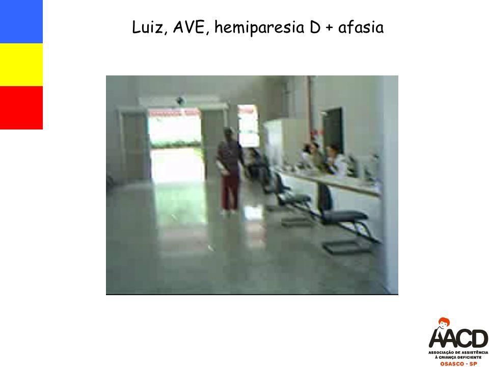Luiz, AVE, hemiparesia D + afasia