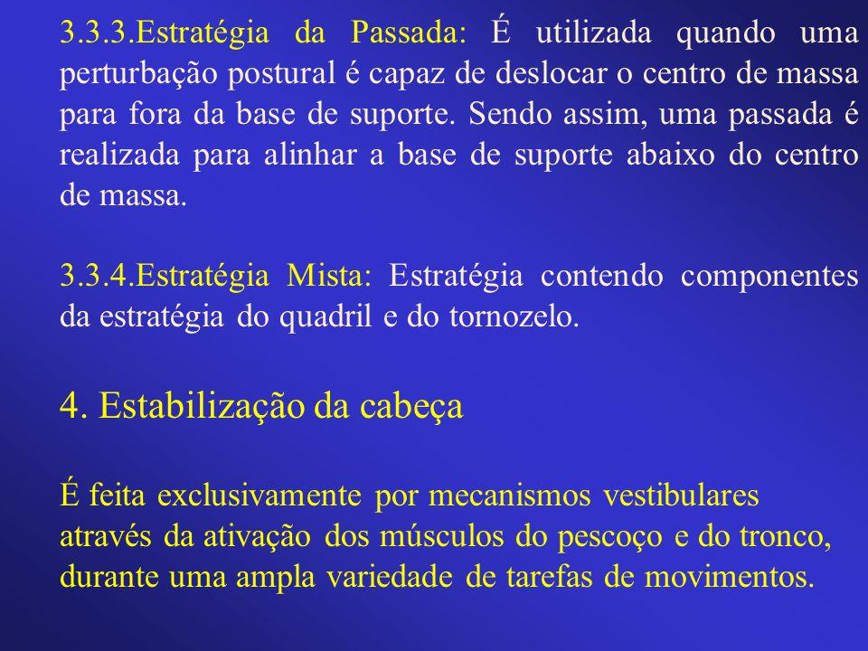 3.3.3.Estratégia da Passada: É utilizada quando uma perturbação postural é capaz de deslocar o centro de massa para fora da base de suporte. Sendo ass