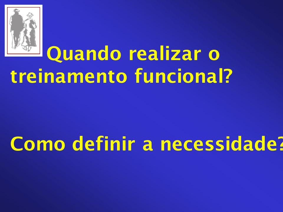 Quando realizar o treinamento funcional? Como definir a necessidade?