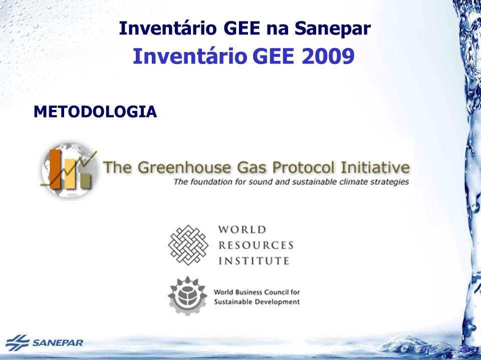 Inventário GEE na Sanepar Inventário GEE 2009 20 METODOLOGIA