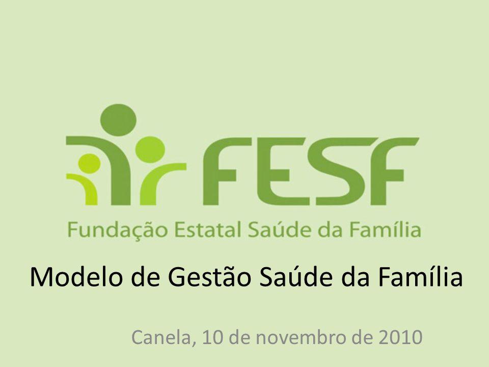 Modelo de Gestão Saúde da Família Canela, 10 de novembro de 2010
