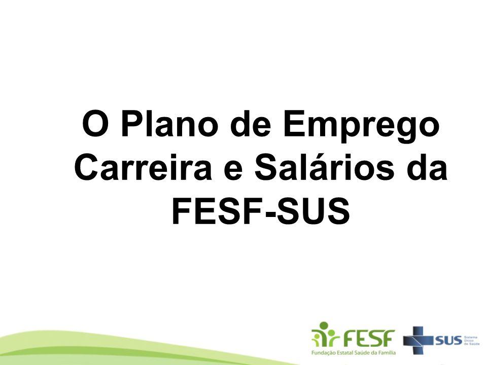 O Plano de Emprego Carreira e Salários da FESF-SUS