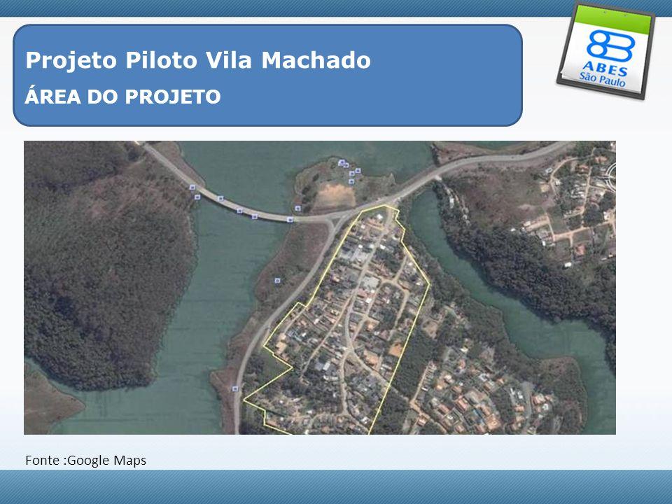 Projeto Piloto Vila Machado - Objetivo Geral Elaborar alternativas de saneamento em comunidades isoladas, englobando instalações, conscientização e cooperação da comunidade local, gestão eficaz do sistema, tanto nos aspectos técnico-operacional, como no econômico-financeiro, garantindo a sustentabilidade e a proteção do meio ambiente.