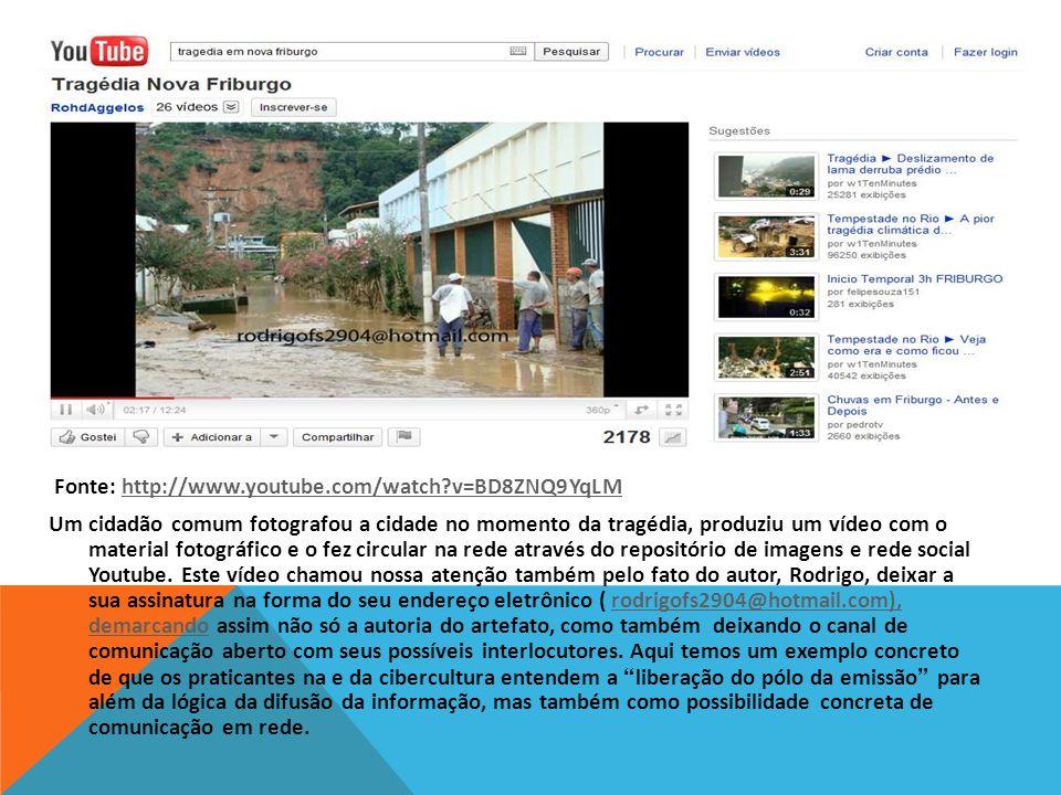Fonte: http://www.youtube.com/watch?v=BD8ZNQ9YqLM http://www.youtube.com/watch?v=BD8ZNQ9YqLM Um cidadão comum fotografou a cidade no momento da tragéd