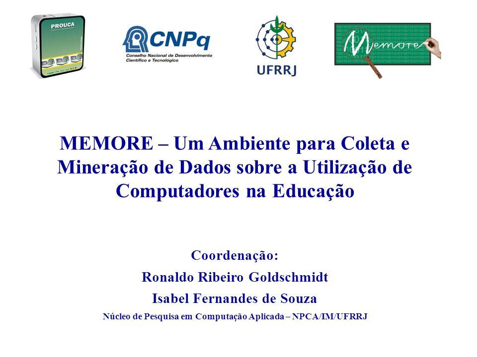 Coordenação: Ronaldo Ribeiro Goldschmidt Isabel Fernandes de Souza Núcleo de Pesquisa em Computação Aplicada – NPCA/IM/UFRRJ MEMORE – Um Ambiente para