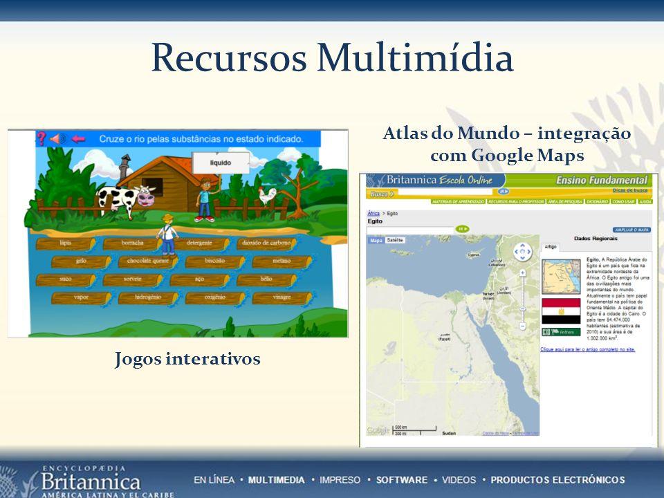 Jogos interativos Atlas do Mundo – integração com Google Maps