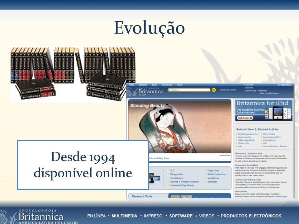 Evolução Desde 1994 disponível online