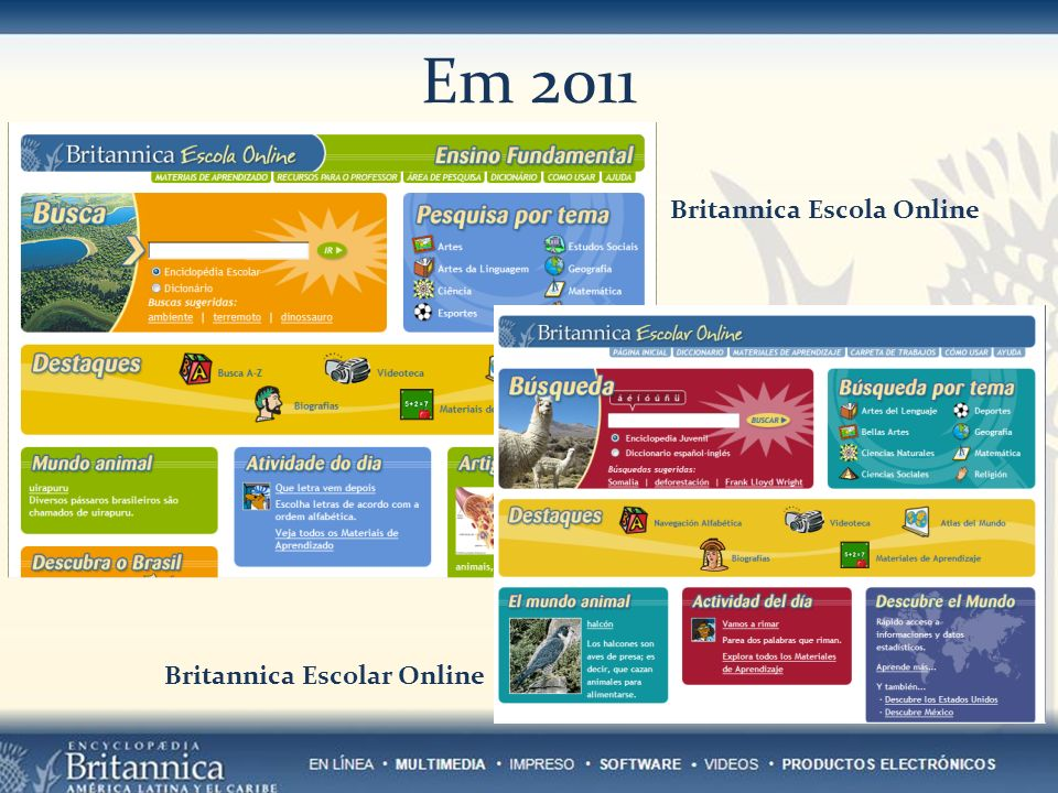 Em 2011 Britannica Pathways: Science (versão beta)