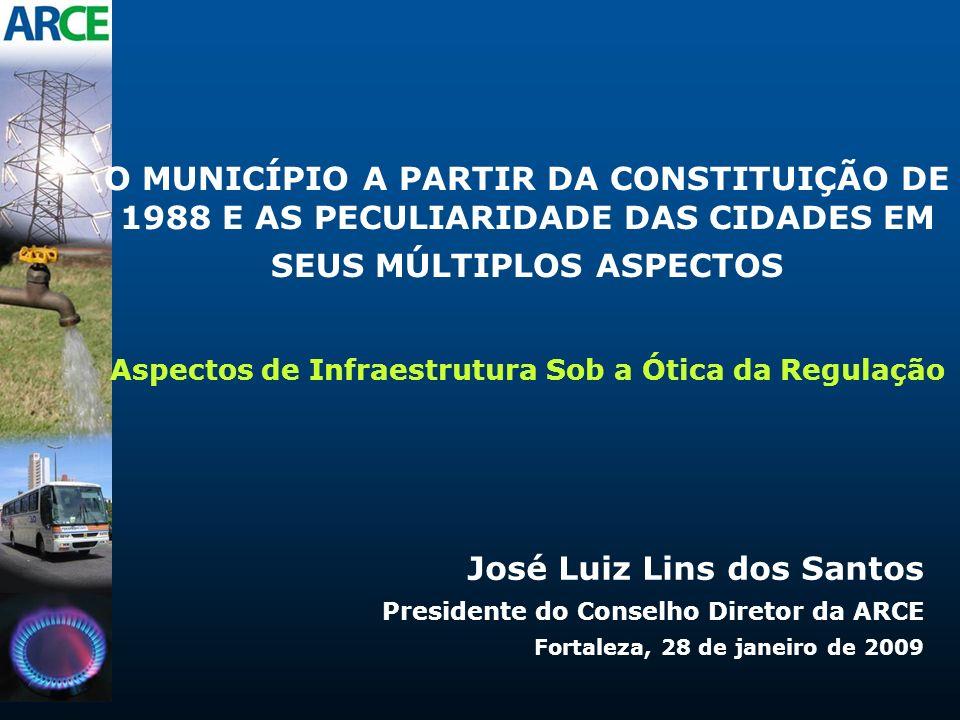 O MUNICÍPIO A PARTIR DA CONSTITUIÇÃO DE 1988 E AS PECULIARIDADE DAS CIDADES EM SEUS MÚLTIPLOS ASPECTOS Aspectos de Infraestrutura Sob a Ótica da Regul