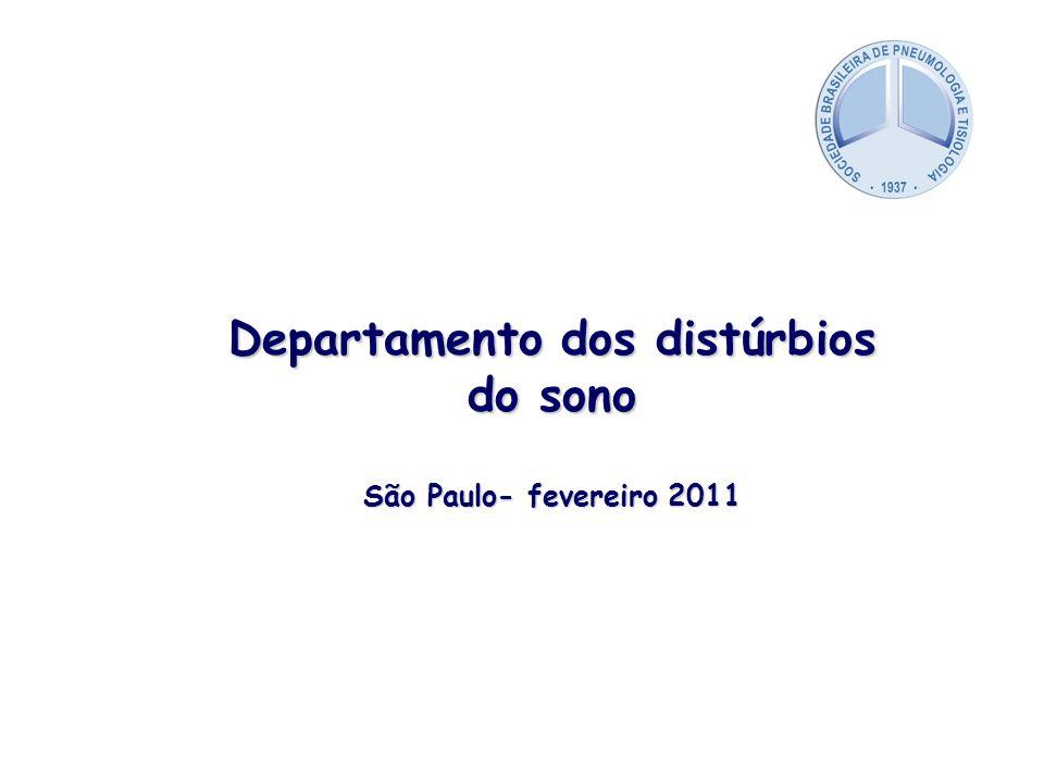 Departamento dos distúrbios do sono São Paulo- fevereiro 2011