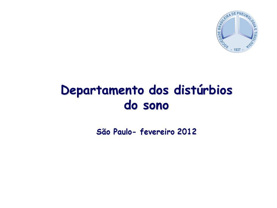 Departamento dos distúrbios do sono São Paulo- fevereiro 2012
