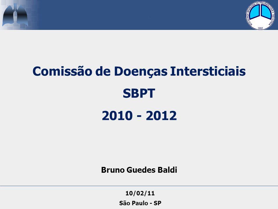Bruno Guedes Baldi Comissão de Doenças Intersticiais SBPT 2010 - 2012 10/02/11 São Paulo - SP