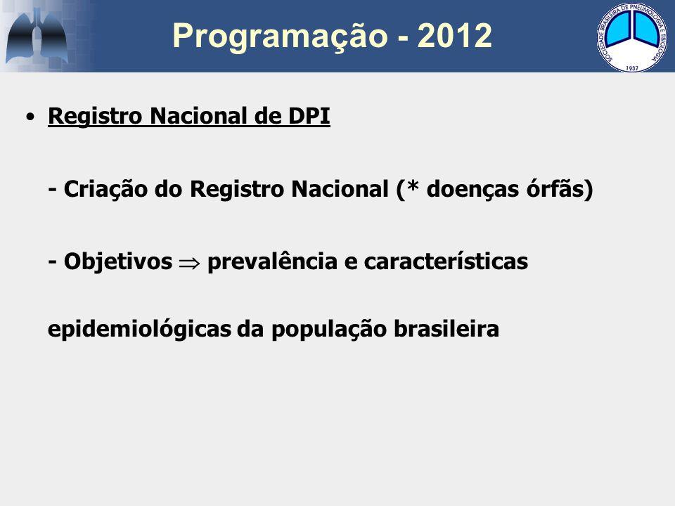 Registro Nacional de DPI - Criação do Registro Nacional (* doenças órfãs) - Objetivos prevalência e características epidemiológicas da população brasi