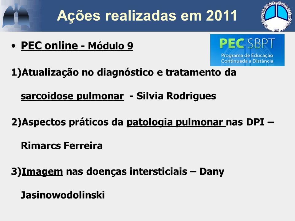 PEC online - Módulo 9 1)Atualização no diagnóstico e tratamento da sarcoidose pulmonar - Silvia Rodrigues 2)Aspectos práticos da patologia pulmonar na