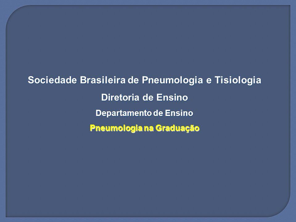 Sociedade Brasileira de Pneumologia e Tisiologia Diretoria de Ensino Departamento de Ensino Pneumologia na Graduação