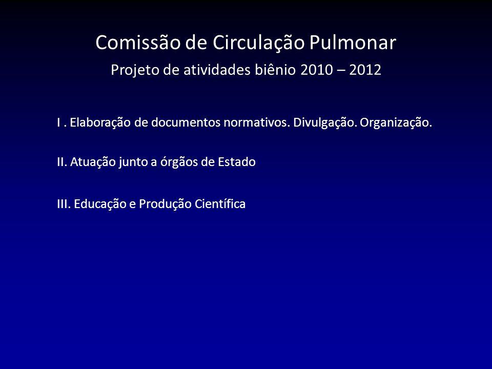 I.Elaboração de documentos normativos. Divulgação.