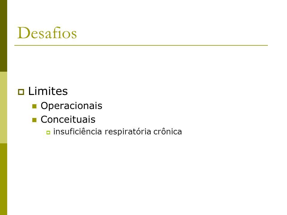 Desafios Limites Operacionais Conceituais insuficiência respiratória crônica