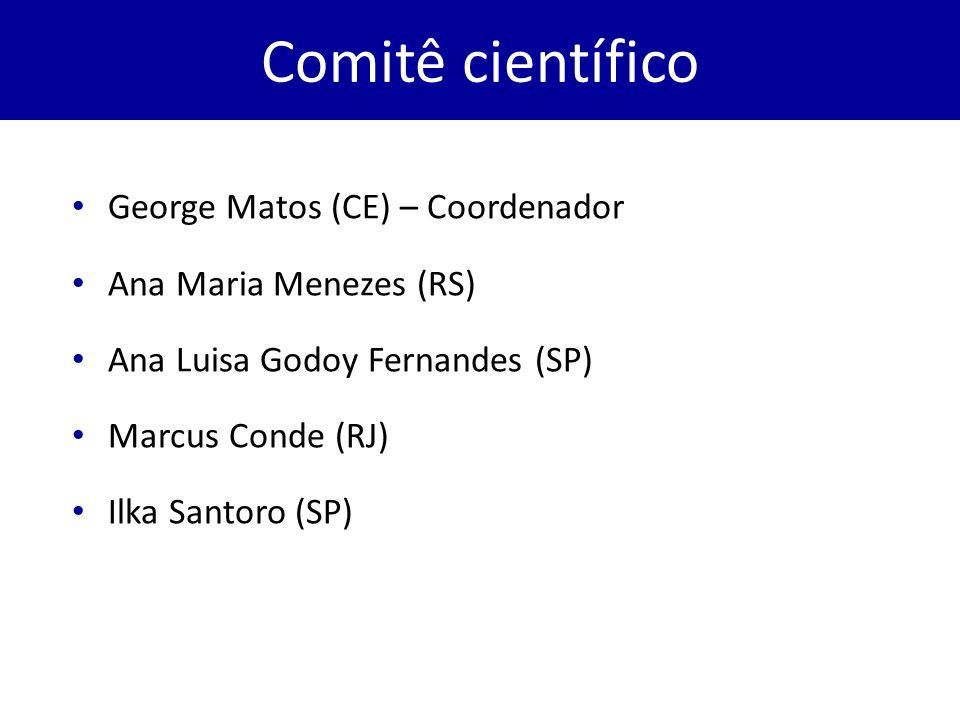 Comitê científico George Matos (CE) – Coordenador Ana Maria Menezes (RS) Ana Luisa Godoy Fernandes (SP) Marcus Conde (RJ) Ilka Santoro (SP)
