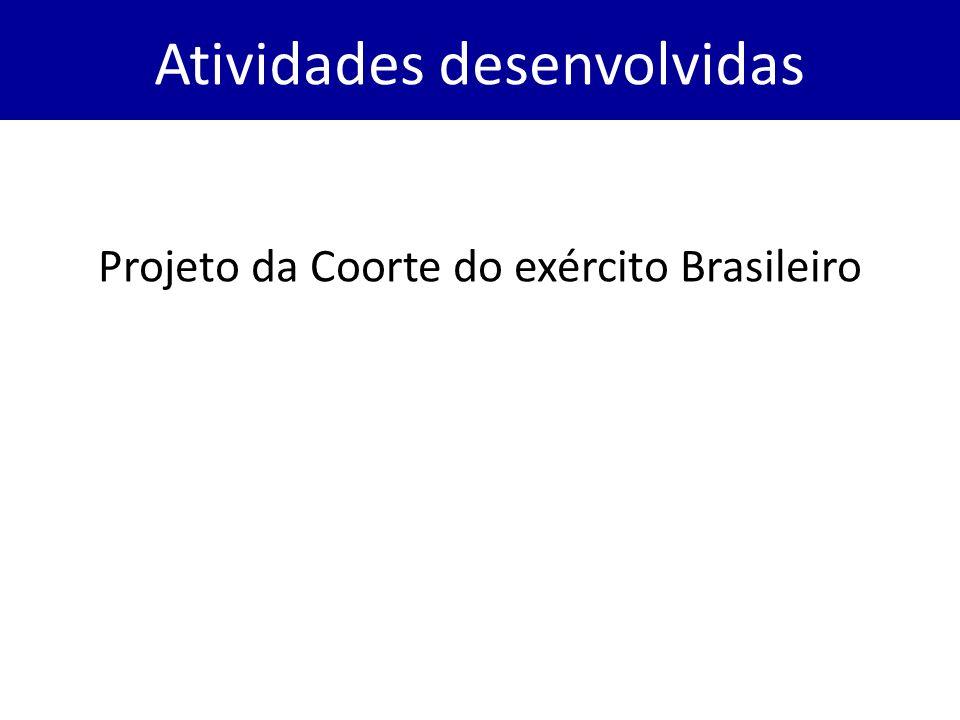 Projeto da Coorte do exército Brasileiro Atividades desenvolvidas