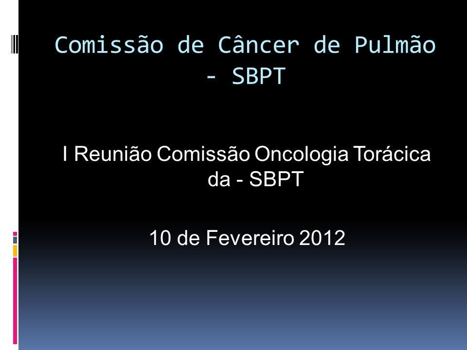 Comissão de Câncer de Pulmão - SBPT I Reunião Comissão Oncologia Torácica da - SBPT 10 de Fevereiro 2012