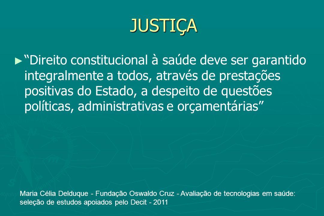 JUSTIÇA Direito constitucional à saúde deve ser garantido integralmente a todos, através de prestações positivas do Estado, a despeito de questões pol