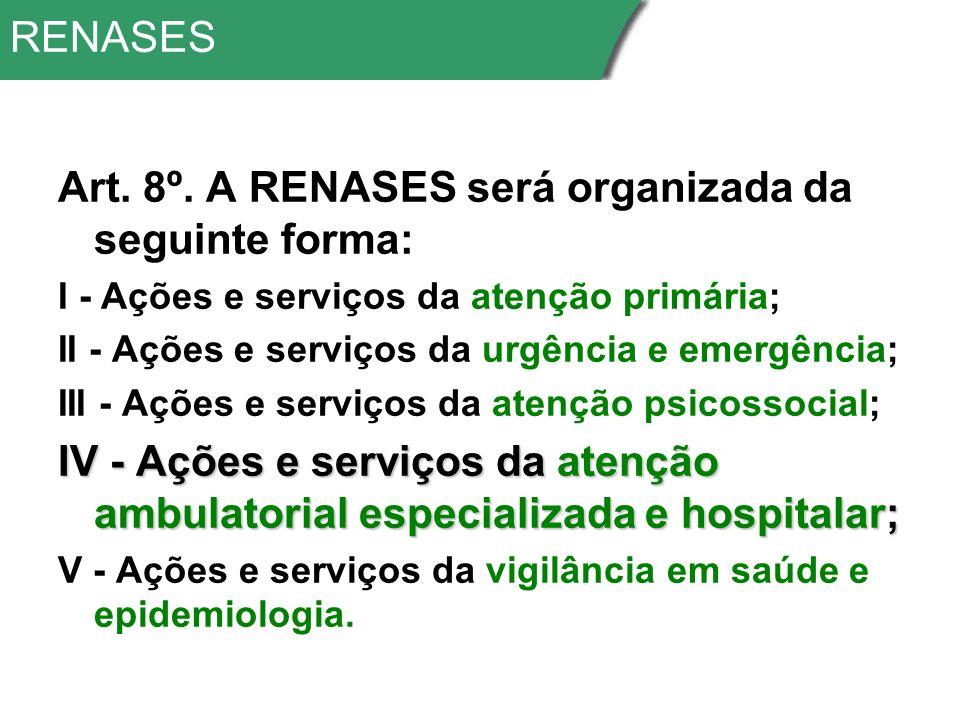 RENASES Art.8º.