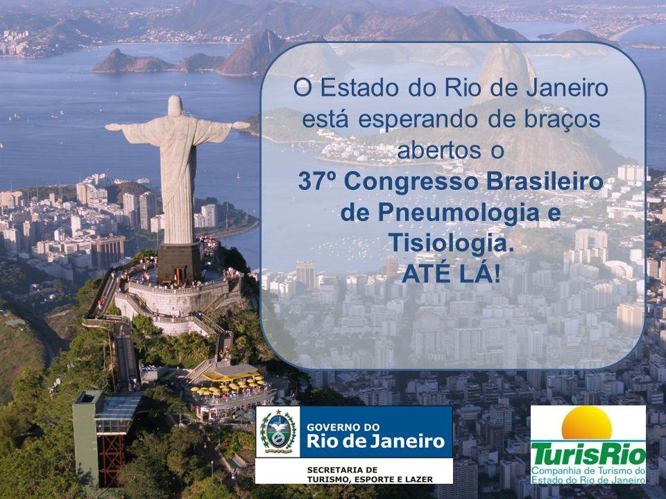 O Estado do Rio de Janeiro está esperando de braços abertos o 37º Congresso Brasileiro de Pneumologia e Tisiologia. ATÉ LÁ!