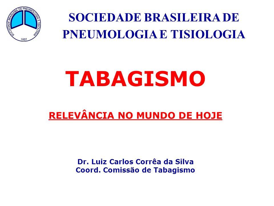 SOCIEDADE BRASILEIRA DE PNEUMOLOGIA E TISIOLOGIA TABAGISMO RELEVÂNCIA NO MUNDO DE HOJE Dr. Luiz Carlos Corrêa da Silva Coord. Comissão de Tabagismo